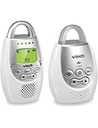 DM221 Audio Baby Monitor with up to 1,000 ft of Range, Vibrating Sound-Alert, Talk Back Intercom & Night Light Loop