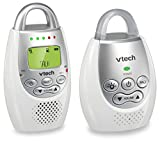 VTech DM221 Audio Baby Monitor with up to 1,000 ft of Range, Vibrating Sound-Alert, Talk Back Intercom & Night Light Loop For Sale