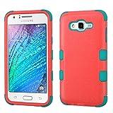 Funda Case para Samsung Galaxy J7 Doble Protector de Uso Rudo (Baby Red)