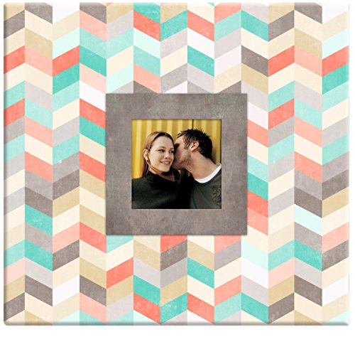 MCS MBI 13.5x12.5 Chevron Pattern Scrapbook Album with 12x12 Inch Pages with Photo Opening (860113)