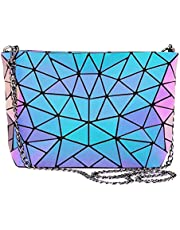 LOVEVOOK womens Holographic Purses and Handbags Geometric Luminous