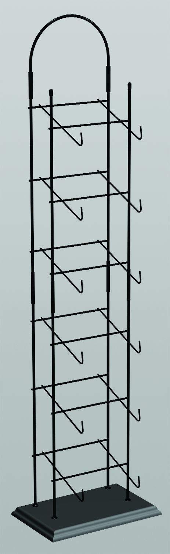 Display Cap tower 6-tier Base Ball Counter Top Black Rack 6-8 Hats Deep
