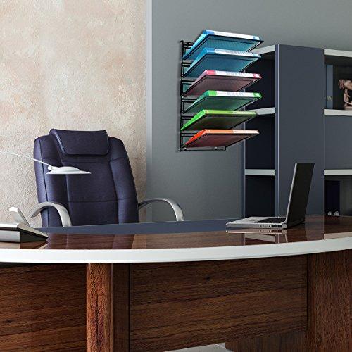 Veesun Hanging Wall File Organizer 6 Pocket Metal Office