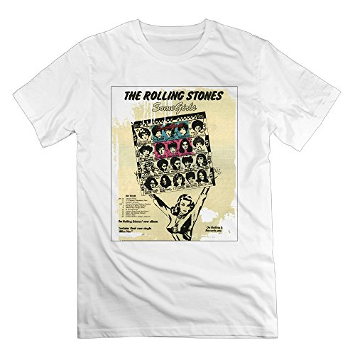 FONY Men's The Rolling Stones Some Girls Short Graphic Tee Shirt