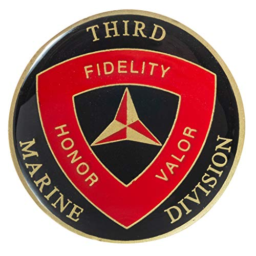 (United States Marine Corps 3rd Marine Division Challenge Coin )