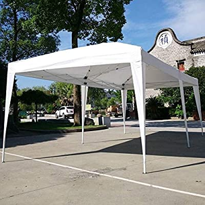 19.6-Foot Outdoor Pop Up Canopy Camping Waterproof Folding Tent White Includes Carry Bag: Home & Kitchen