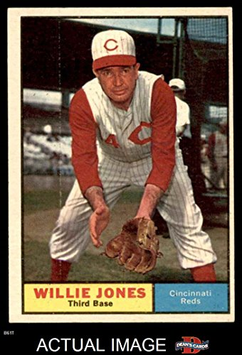 1961 Topps # 497 Willie Jones Cincinnati Reds (Baseball Card) Dean's Cards 5 - EX Reds