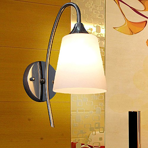 CGJDZMD Wall Sconce Modern Glass Bedroom Hallway Bathroom Wall Lamps Fixture, LED Wall Light Bedside Wall Light, Night Light for Pathway Bedroom, Kitchen, Dinning Room, Balcony by CGJDZMD