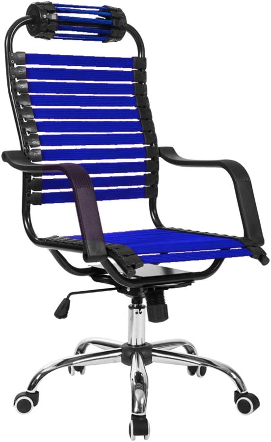 Office Chair Computer Chair With Elastic Headrest Home Office Chair Rubber Band Chair 5 Colors Color Blue Amazon Ca Home Kitchen