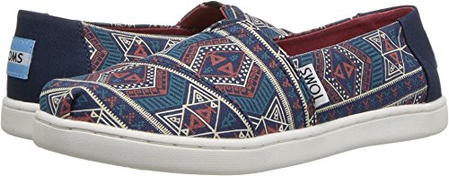 TOMS Youth Alpargata Canvas Printed Espadrille, Size: 12.5 M US Little Kid, Color Navy Forest Tribal - Image 3