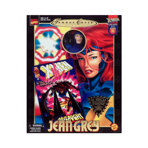 Marvel Comics 1999 Famous Cover 8 Inch Action Figure - JEAN GREY Ultra Poseable Figure with Authentic Fabric Costume - Marvel Comics Famous Covers