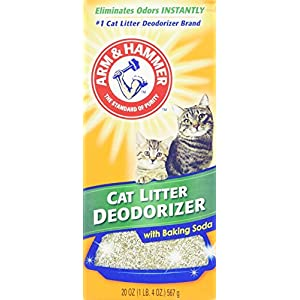 Arm & Hammer Cat Litter Deodorizer with Activated Baking Soda 20 oz (Pack of 4) 80