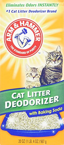 Litter Box Freshener - Arm & Hammer Cat Litter Deodorizer with Activated Baking Soda 20 oz (Pack of 4)