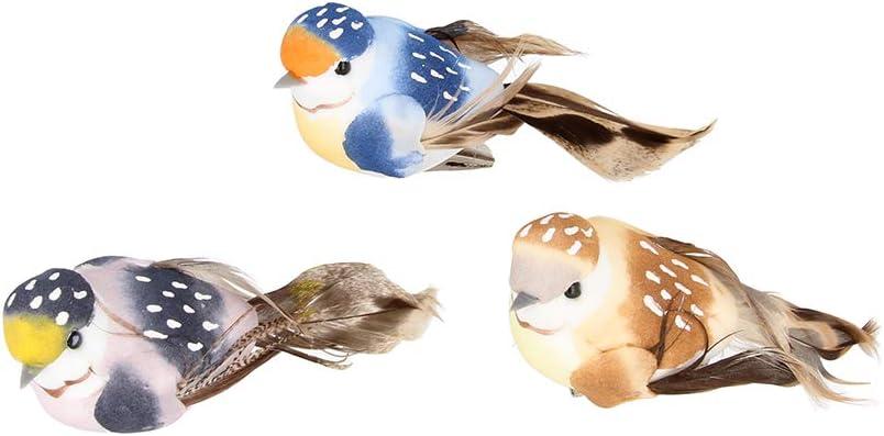 Artemio - Pájaro Decorativo sobre Pinza (10 x 4,5 x 4 cm, 3 Unidades), Multicolor