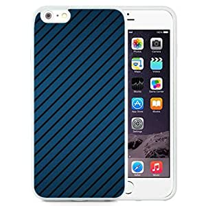 New Beautiful Custom Designed Cover Case For iPhone 6 Plus 5.5 Inch With Textures Background Line Blue (2) Phone Case