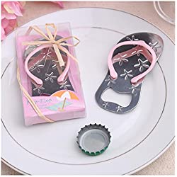 24pcs Special Flip-flop Bottle Opener Beach Bridal Shower for Wedding Favors-Set of 24 (24, Pink)