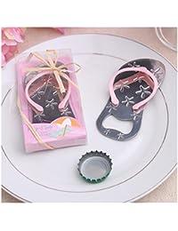 Buy 24pcs Special Flip-flop Bottle Opener Beach Bridal Shower for Wedding Favors-Set of 24 (24, Pink) compare