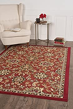 Universal Rugs Leanna Transitional Oriental Red Rectangle Area Rug, 5' x 7'