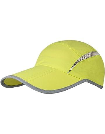94e963d7501 GADIEMKENSD UPF 50+ Outdoor Hat Folding Reflective Running Cap Unstructured  Sport Hats for Men