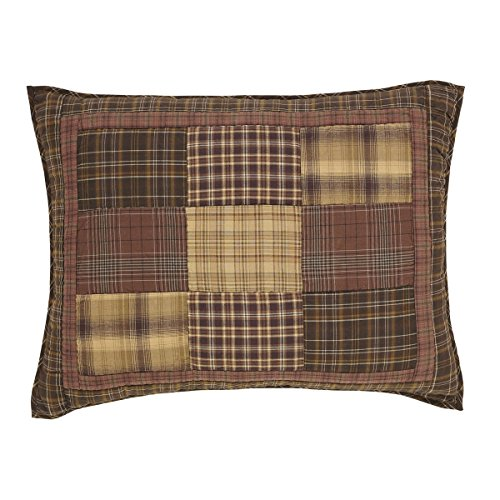 VHC Brands Rustic & Lodge Bedding-Prescott Brown Sham, Standard