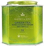 Cheap Harney & Sons Green Tea with Coconut, Ginger, and Vanilla Tea Tin – Green Tea with a Thai Twist – 2.67 Ounces, 30 Sachets