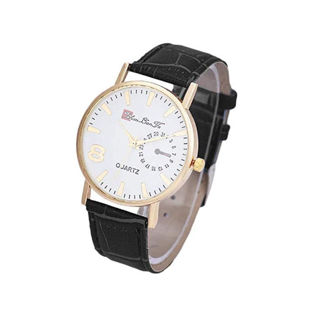 Reloj de Cuarzo para Hombres, Reloj de Cuero Hombres, Hombres, Hombres y Mujeres (Marrón): Amazon.es: Relojes