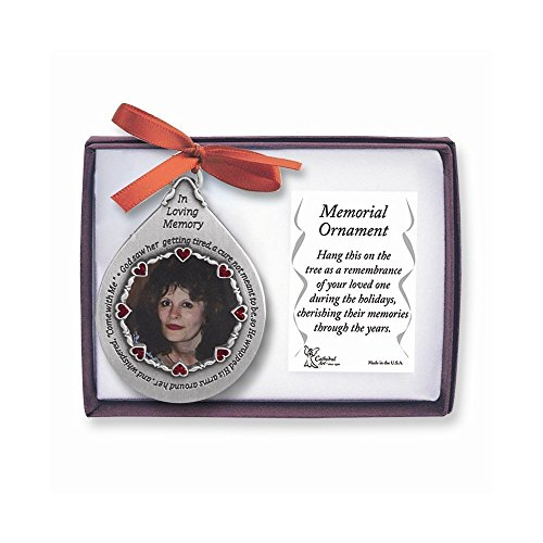 Cathedral Art 'In Loving Memory' Frame for Women - Teardrop Ornament, - Memorial Women's Store