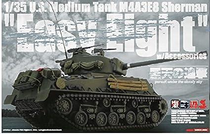 Amazon com: 1/35 America Medium Tank M4A3E8 Sherman Easy