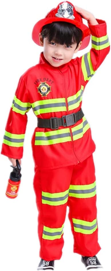Proumhang Disfraz de Jefe de Bomberos Disfraz Halloween Traje ...