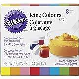Wilton 8 Colour Icing Gel Set, 14.1g (0.5oz) jars