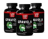 Anti inflammatory Capsules - GRAVIOLA 650MG - Soursop - graviola Leaves - 3 Bottles (300 Capsules)