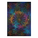 Twin Tie dye Multi Color Star Wall hanging Tapestry,Hippie Mandala Tapestry