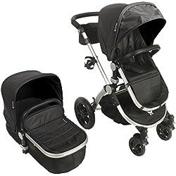 Babyroues Letour AVANT LUXE Infant Stroller, Licorice Black/Silver
