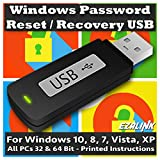 Software : Windows Password Reset Recovery USB for Windows 10, 8.1, 7, Vista, XP | #1 Best Unlocker Software Tool {For Any PC Computer}