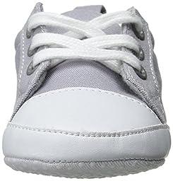 Luvable Friends Basic Solid Color Canvas Sneaker (Infant), Gray, 12-18 Months M US Infant