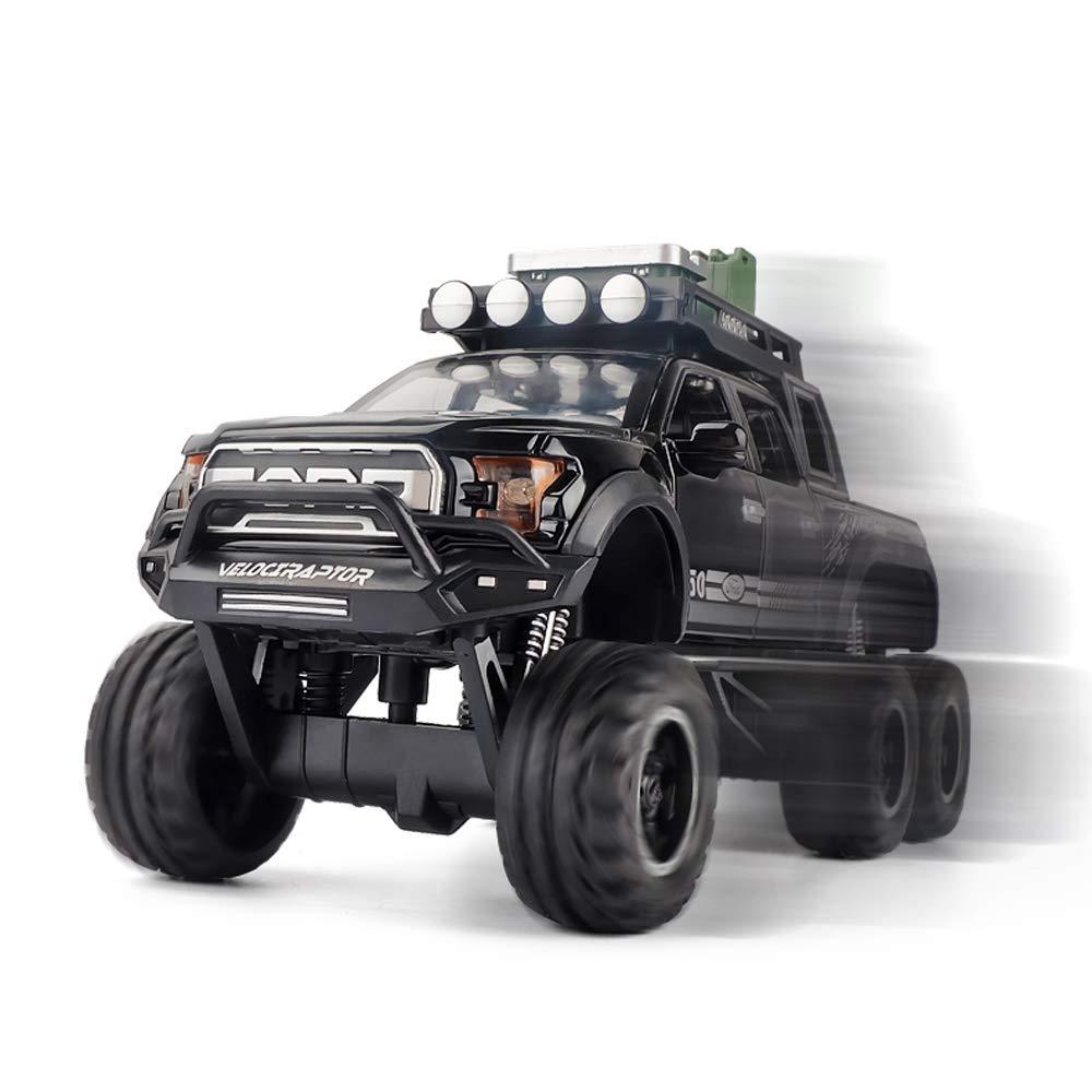 Color : Rouge Xolye Pick-up SUV Mod/èle Son et lumi/ère Pull Back Alliage Toy Car Boy Six Open Door Grand Toy Car Simuler Enfants en Alliage Pull Back de Voiture Jouer M/étal Toy Car