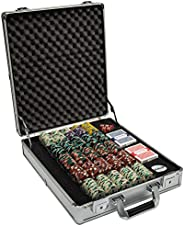 Claysmith Gaming 500ct Showdown Poker Chip Set in Aluminum Carry Case, 13.5-Gram Heavyweight Clay Composite