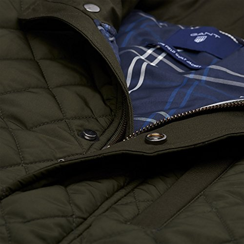 Uomo Jacket Country Field Gant Quilted Giacca Green Z7IEw