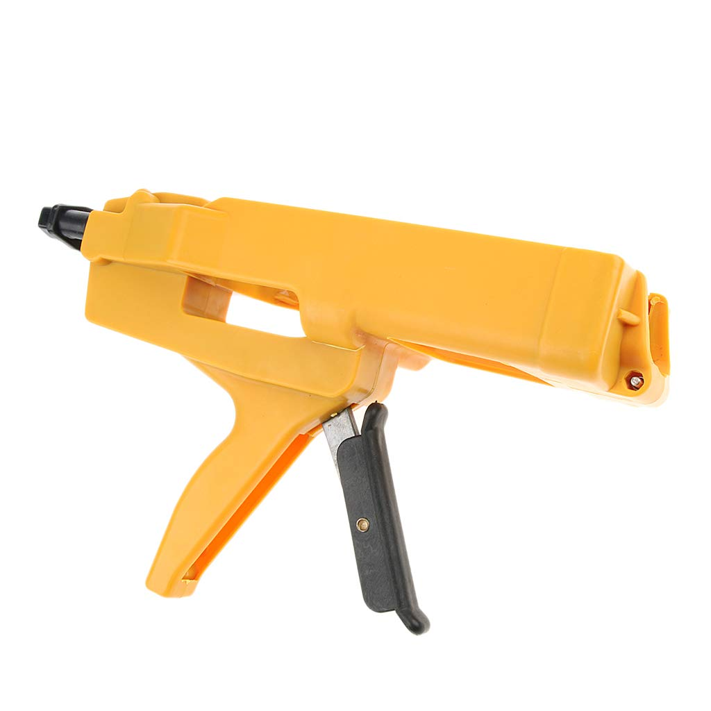 Baosity 400ml Cartridge, Double-barrel ABS & Steel Caulk Dispenser Sealant Gun in 1:1 mix ratio