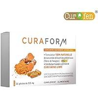Curqfen® | 100% naturale, senza additivi | curcumina libera biodisponibile + 12 ore | Comprovata distribuzione nel tessuto mediante studi clinici.
