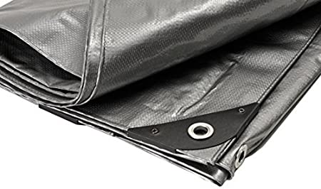 Premium Super Heavy Duty Silver Canopy Tarp 7/' X 24/' with UV Protection
