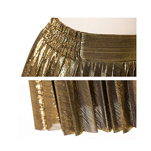 C Beach Summer Festa Long Satin Ragazze Gonna Metallizzata Donne Plissettata Delle Maoying Lustro Skirt Longuette 6Yn8xgq