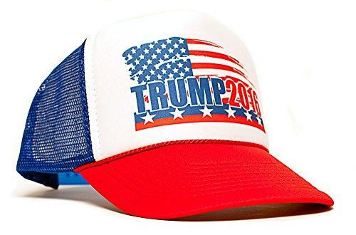 Trump 2016 President Campaign Trucker Unisex Adult-one size Hat Cap Multi ()