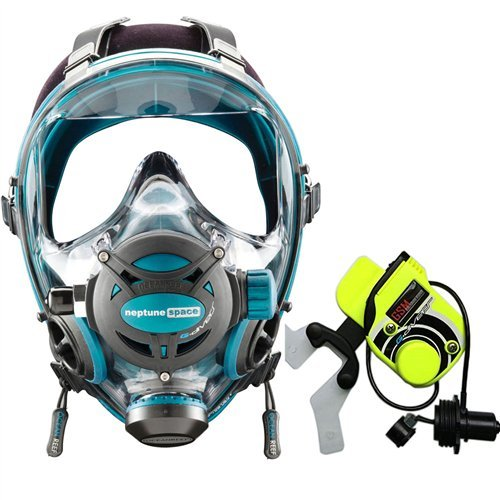 (Ocean Reef Neptune Space G. Divers Series Full Face Mask Kit (Medium/Large, Emerald))