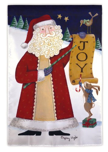 Evergreen Joy Santa House Flag 29
