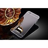 Taslar(TM) Luxury Mirror Metal Series Bumper Back Cover Case For Micromax Yu Yureka / Yu Yureka Plus (Gray)