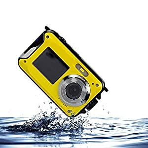 PowerLead Gapo PL-03 Double Screens Waterproof Digital Camera 2.7-Inch Front LCD Easy Self Shot Camera