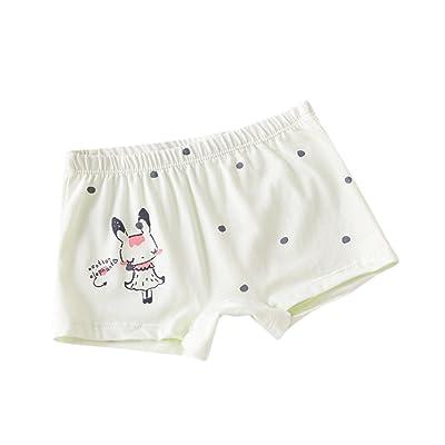 Birdfly Baby Girls Cute Cartoon Boyshort Panties Soft Boxer Briefs Toddlers Kids Basic Underwear (7-8T, K)