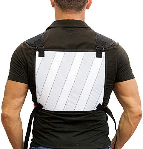 MAIWEI Reflective Strip Tactical Chest Bag Sports Chest Front Pouch for Leisure Running Hiking