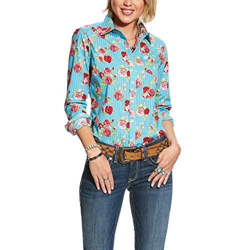 907b4187d61e ARIAT Women s Kirby Stretch Shirt Rose Print Size XL